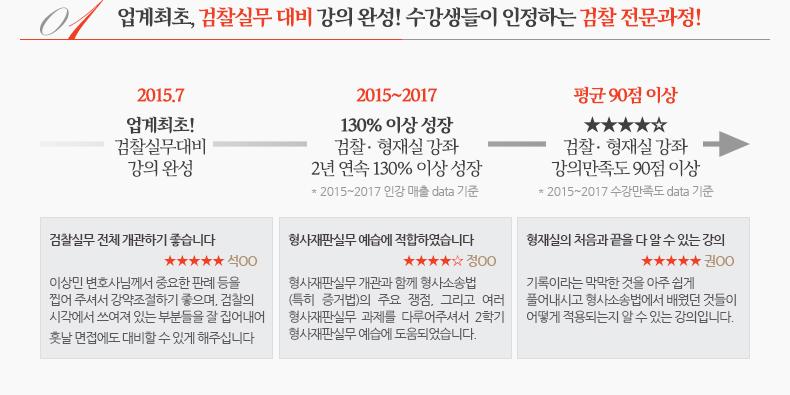 1. 업계유일, 검찰실무대비 강의 완성