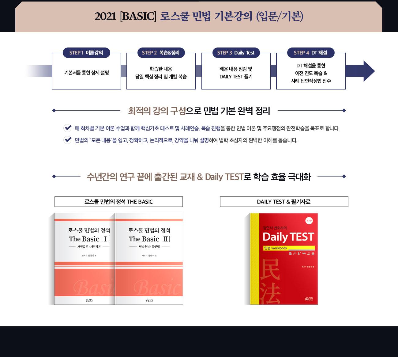 2021 [Basic] 로스쿨 민법 기본강의 [입문/기본]